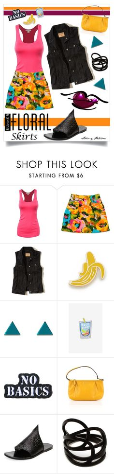 """""""Hot Summer Streets"""" by stormypeterson ❤ liked on Polyvore featuring Nanette Lepore, Hollister Co., Georgia Perry, Wolf & Moon, Laser Kitten, Hollywood Mirror, Coach, Tomas Maier, Repossi and bananarama"""
