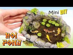 Miniature Koi Pond Tutorial // DIY Dolls/Dollhouse - YouTube