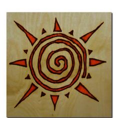 For anyone who hasn't tried burning a spiral yet this might be a good starting point. I find spirals are quite difficult to get just right & this design forgives the odd wobble or 2 ; Sun Tattoo Designs, Sun Designs, Tribal Designs, Arte Tribal, Tribal Art, Spiral Tattoos, Ear Tattoos, Celtic Tattoos, Sleeve Tattoos