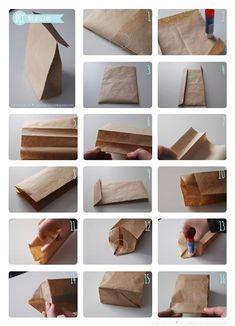 DIY - Bolsa de papel para regalos la mar de chulos