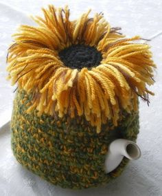Sunflower tea cosy ... creator's just amaze me.....