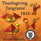 "Here are 4 different Thanksgiving/ Autumn themed Tangram puzzles for you to cut out and use in your classroom! Each tangram is on a 3.7"" x 4.9"" car..."