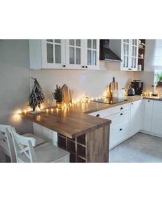 Ikea Interior, Kitchen Interior, Kitchen Design, Interior Decorating, Interior Design, Boho Kitchen, Kitchen Accessories, Home Kitchens, Sweet Home