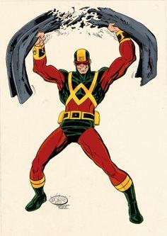 Wonder Man by John Byrne, Marvel Comics, 1970s costume, Avengers, Simon Williams
