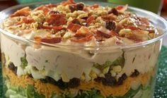 Tanimura & Antle - Recipes - Bone Crunching Layered Salad with Mustard-Beer…