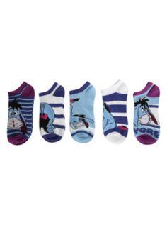 Disney Winnie The Pooh Eeyore No-Show Socks 5 Pair ($10.88-14.50) - Hot Topic | 5 stars