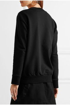 Victoria, Victoria Beckham - Oversized Embroidered Cotton-jersey Sweatshirt - Black - x small