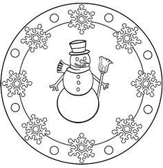 mandala winter schneeflocken ausmalbild kostenlos christmas diy kids mandala   mandala