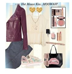 """""""#158...Hot Mauve Kiss...MOOWAH """" by onesweetthing on Polyvore featuring RED Valentino, STELLA McCARTNEY, Chanel, Charlotte Tilbury and ChloBo"""