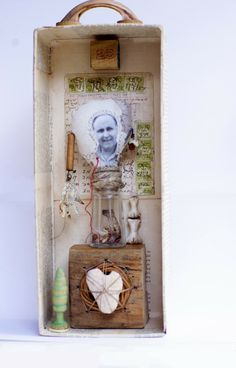 What's Inside of Dad - assemblage by grrl+dog
