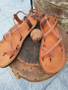 Unisex leather sandals. by zapateriaartesanal on Etsy