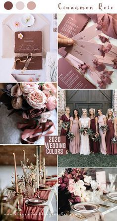 ecinnamon rose and blush stylish wedding colors wedding colors Top 10 Wedding Color Trends to Inspire in 2020 Dusty Rose Wedding, Burgundy Wedding, Summer Wedding, Dream Wedding, Wedding Day, Wedding Quotes, Rustic Wedding, Wedding Themes, Wedding Decorations
