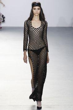 openwork black crochet dress sibling