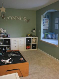 this is a cute room  - love that nook!!