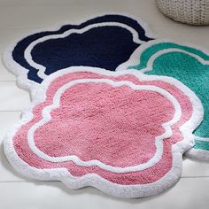 PomPom Bath Mat Potterybarnteen Lucys Bathroomwhite Mat With - Multi colored bath rugs for bathroom decorating ideas