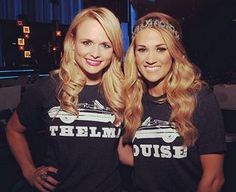 Miranda Lambert & Carrie Underwood..modern day Thelma & Louise <3