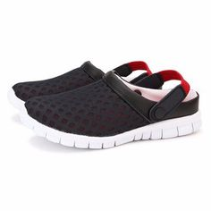 Hot-sale Big Size Breathable Hollow Out Pure Color Flat Casual Beach Sandals - NewChic Mobile.