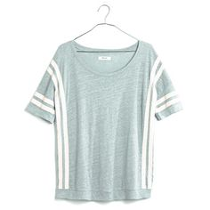 Banded Tee in Courtstripe, on sale for 30 bucks