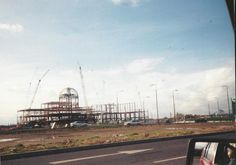 The Trafford Centre under construction Sept. 1996 Manchester, the once unpolluted area of Dumplington getting built upon. Photo by Janet Peat