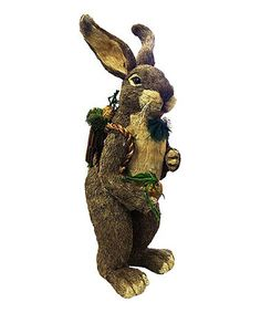 Another great find on #zulily! Backpacking Bunny Statue #zulilyfinds