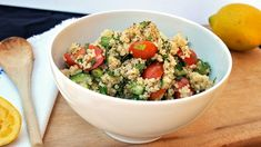 With juicy and sweet cherry tomatoes, fresh herbs, and filling quinoa you are in for the perfect dish.