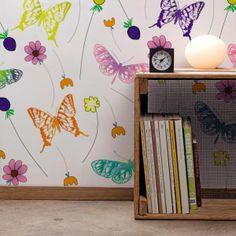 """Wallcover """"Flowers & Butterflies"""""""