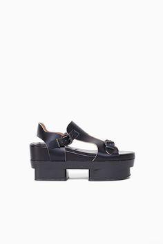 acne studios black platforms, fit for a warrior #shoes