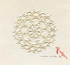 Frywolitka wykonana na podstawie wzoru Ann Orr z 1915 r.    / made by me, tatting (frivole) pattern taken from: Ann Orr, The tatting book, nr 13, 1915, plate 40 (pp. 10)   http://www.antiquepatternlibrary.org/pub/PDF/OrrTatting13.pdf #tatting #frivolite #DIY #frywolitka