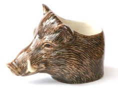 Wild Boar Head Face Egg Cup for boiled eggs by Quail Pottery | eBay