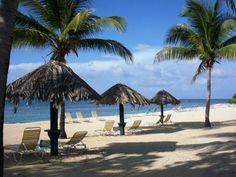 Private beach and palapas