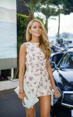 """Blake Lively on the set of """"Le Grand Journal"""" at the 67th Annual Cannes Film Festival"""