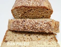 pan paleo sin gluten sin azúcar Healthy Desserts, Raw Food Recipes, Cooking Recipes, Gluten Free Baking, Gluten Free Recipes, Pan Paleo, Paleo Bars, Deli Food, Vegan Bread