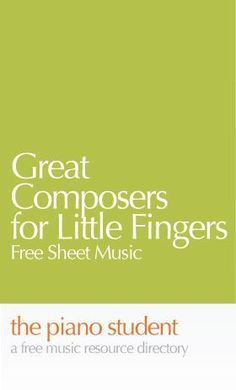 FREE Sheet Music for Piano : Great Composers for Little Fingers - Homeschool Giveaways Easy Piano Sheet Music, Free Sheet Music, Piano Music, Music Sheets, Piano Songs, Music Wall, Guitar Songs, Guitar Chords, Music Lessons For Kids