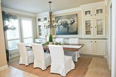 Dining room built in cabinetry idea