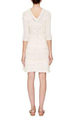 Ivory Princess Three Quarter Sleeve Dress by Vanessa Montoro for Preorder on Moda Operandi