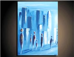 city, abstract, landscape, paintings, art,