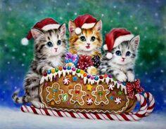 Kayomi Harai — Christmas Kitten (960×750)
