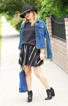 BCBG Skirt, Everlane Sweatshirt www.thehuntercollector.com