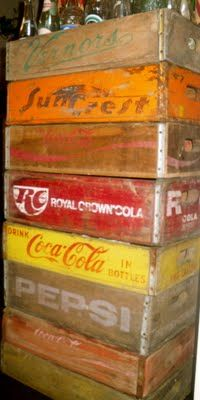 soda crate collection...always great for that vintage rustic feel...