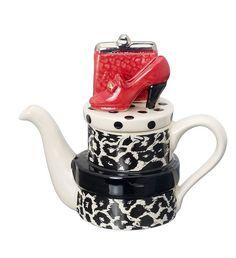 The 'Are You Ready Yet?' Handbag and Shoes 'A' one-cup Teapot Teapots Unique, Vintage Teapots, Teapot Design, Alice Tea Party, Perfect Cup Of Tea, Tea Pot Set, Teapots And Cups, Tea Art, Chocolate Pots