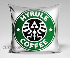 Hyrule Coffee the legends of zelda cute pillow cases