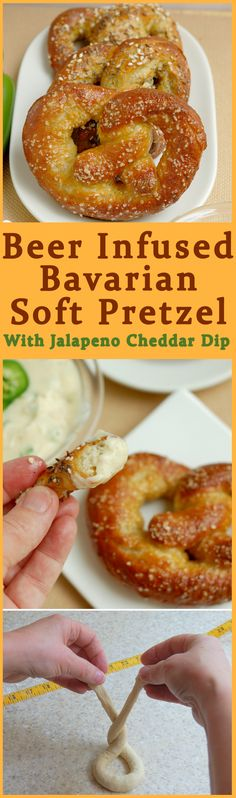 Beer is delicious with a pretzel and in a pretzel. Easy to make and so delicious. Get the recipe and see photos how to shape and bake your own soft pretzels