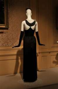 "back view of famous Audrey Hepburn ""Breakfast at Tiffany's"" Givenchy dress"