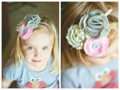 DIY flowers for a headband!!!