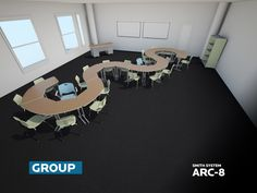 Smith System Arc-8 Desk Configurations #classroomconfigurations