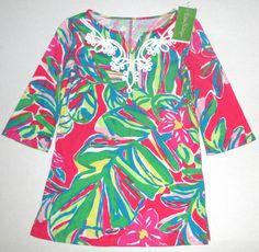 LILLY PULITZER Small 4 5 Shel JUNGLE TUMBLE Pomegranate Jersey Dress NWT S #LillyPulitzer #DressyEveryday