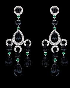 Ralph Lauren18K white gold chandelier earrings