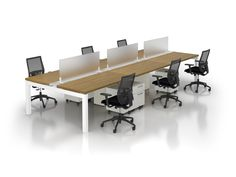 Create the perfect modern workstations for your company's talent with modular office furniture and adjustable height benching systems that are well designed to meet your company's evolving needs. Office Storage Furniture, Office Furniture Design, Cabinet Furniture, Modern Furniture, Modular Workstations, Office Reception Design, Modular Office, Work Station Desk, Contemporary Office