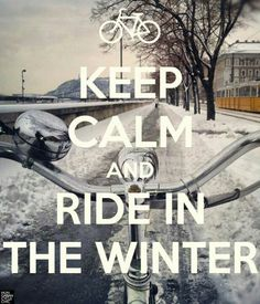 Be brave and ride your bike in winter!
