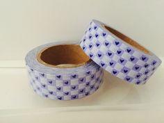 Purple Heart Checkerboard Washi Tape by GoatGirlMH on Etsy